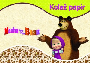 PAPIR KOLAŽ A4 20 LISTNI MASHA AND THE BEAR  19808
