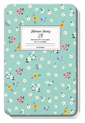 BLOKEC A6 HARDCOVER PU FLOWERS 26223